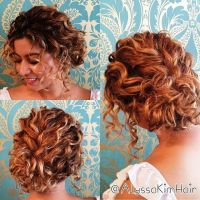 25+ best ideas about Wedding hairstyles for curly hair on