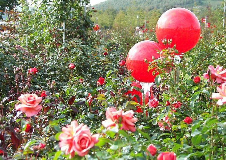gartendeko gartendekoration glaskugeln rosenkugeln aus glas buga07, Garten und bauen