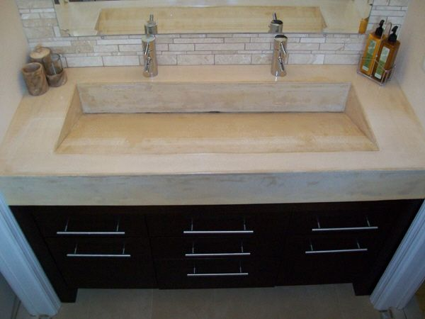 17 Best Ideas About Concrete Countertops Bathroom On