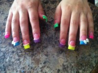 Neon Acrylic Nails | My Nail Designs | Pinterest | Neon ...