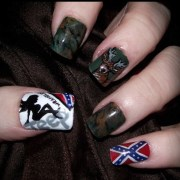 trucker girl country nails sure
