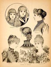 1890 wood engraving victorian women