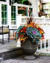 Fall Outdoor Containers #falldecor | Fall Ideas ...