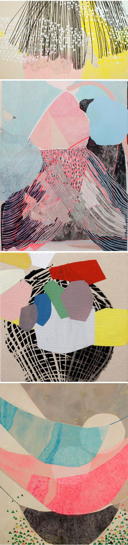 """""""Misato Suzuki lives in Los Angeles and her paintings feature glorious colors and elements of repetition, brought to life through"""