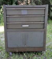 Large Vintage Craftsman Rolling Toolbox Tool Chest Cabinet ...