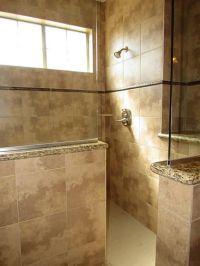 Huge walk in Shower, half wall/half glass | Rooms To Bathe ...