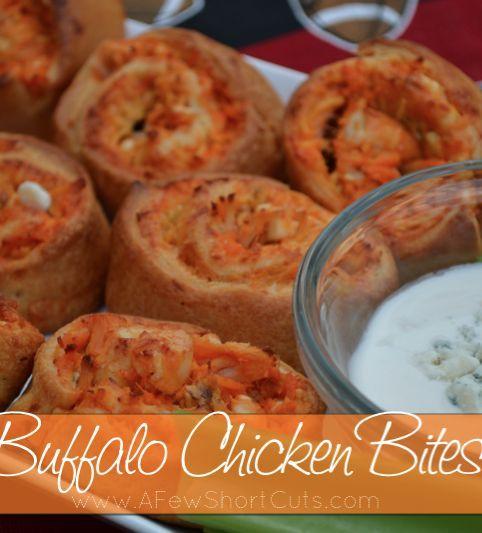 Buffalo Chicken Bites Recipe! Hello football food!