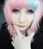 cute hairstyle pastel nu