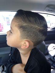 boy hair cut side view