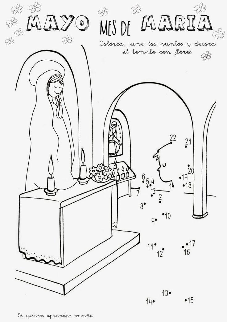 Pin Para Colorear Virgen Guadalupe Dibujos Maria On Pinterest Auto