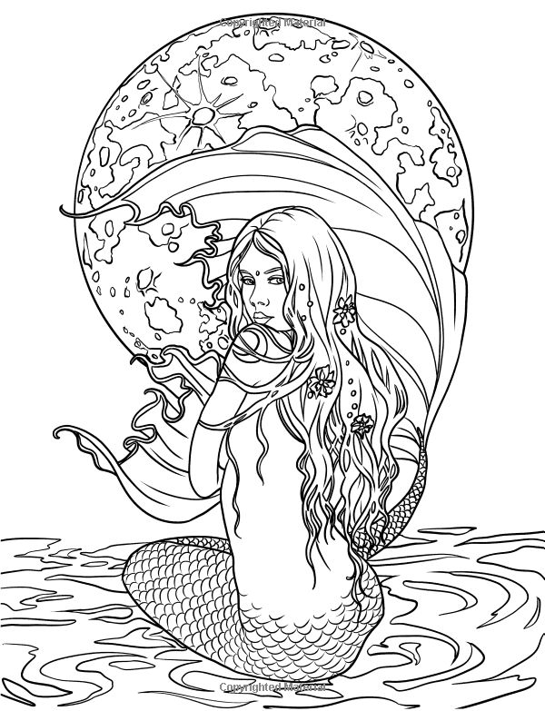 268 best images about Coloring Pages *Sea / Mermaid / etc