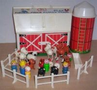 Vintage Fisher Price Family Farm Play Set Barn & Silo 1967 ...