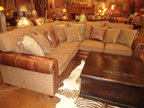 Rustic Furniture Sectional Sofa  Cierra Interiors