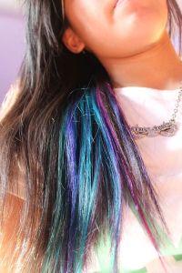 Streaks in hair, Color streaks and Blue streaks on Pinterest