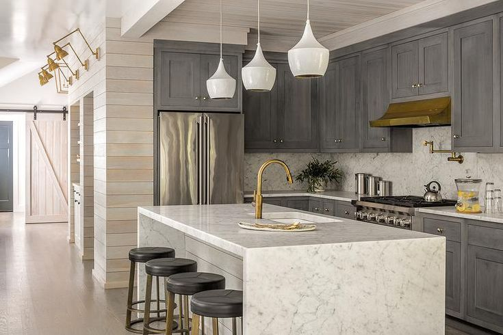1000 Ideas About Waterfall Countertop On Pinterest Contemporary Kitchens Kitchens And