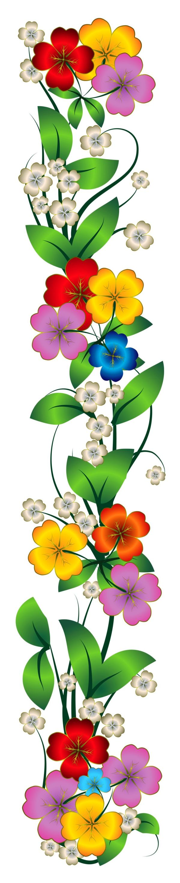 flowers decor clipart illustrations