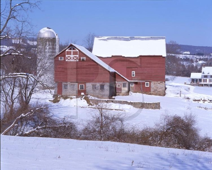 Red Barn In The Snow Hunterdon County New Jersey Barns Pinterest Farms Red Barns And House