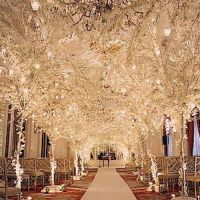 wedding aisle decorations   Winter Wedding Decoration ...