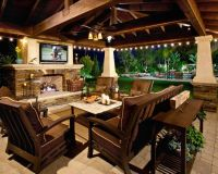 A big screen TV under a covered patio would be such a ...