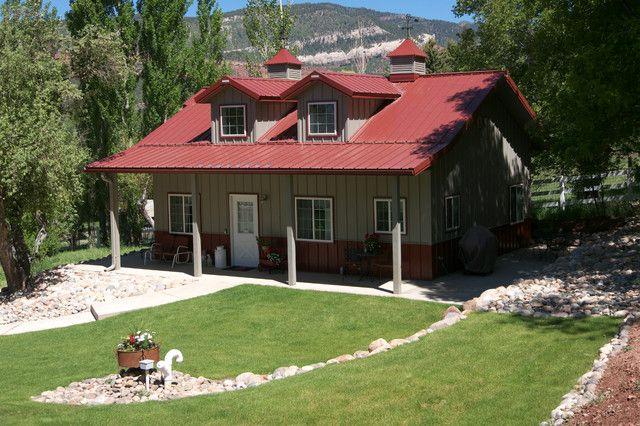 American Classics: Metal Building Cabin W/ Porch, Dormers