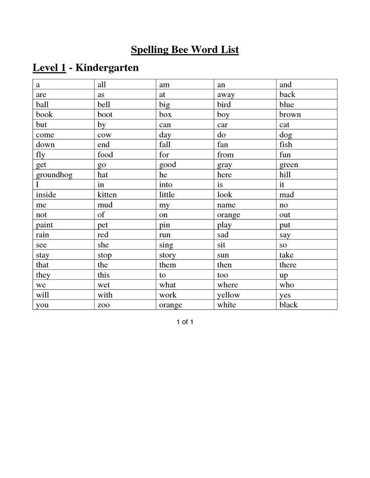 Best 25+ Spelling bee word list ideas on Pinterest