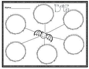 Bats + Graphic Organizer + Bat Facts + October Writing