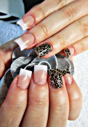 french and wild acrylic nails