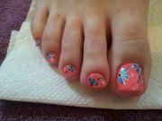 girly toenails toenail