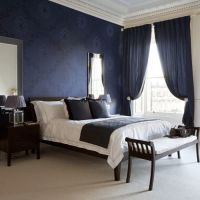 25+ best ideas about Dark Blue Bedrooms on Pinterest