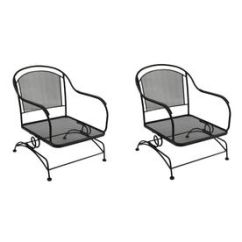 Swivel Chair Price In Bd Clear Dining Garden Treasures Set Of 2 Davenport Black Mesh Seat Wrought Iron Patio Without ...