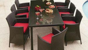 Grand Resort Osborn 9 Piece Dining Set Patio Furniture