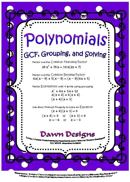 Polynomials Factor And Solve Using Gcf And Grouping With