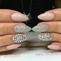 Nail Republic   Light Pink Almond Acrylic Nails w ...