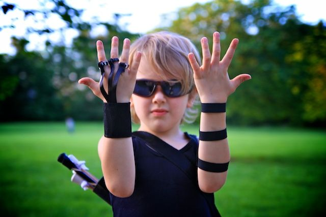 Part 2 The Avengers Homemade Hawkeye Costume: Finger Glove and Armguard OR fun accessories for boys dress up as a spy, etc.~Life
