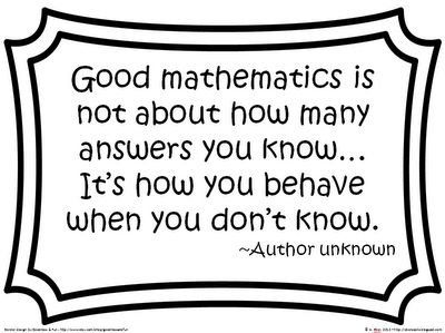 Good quote to use for difficult content #creative #Math #