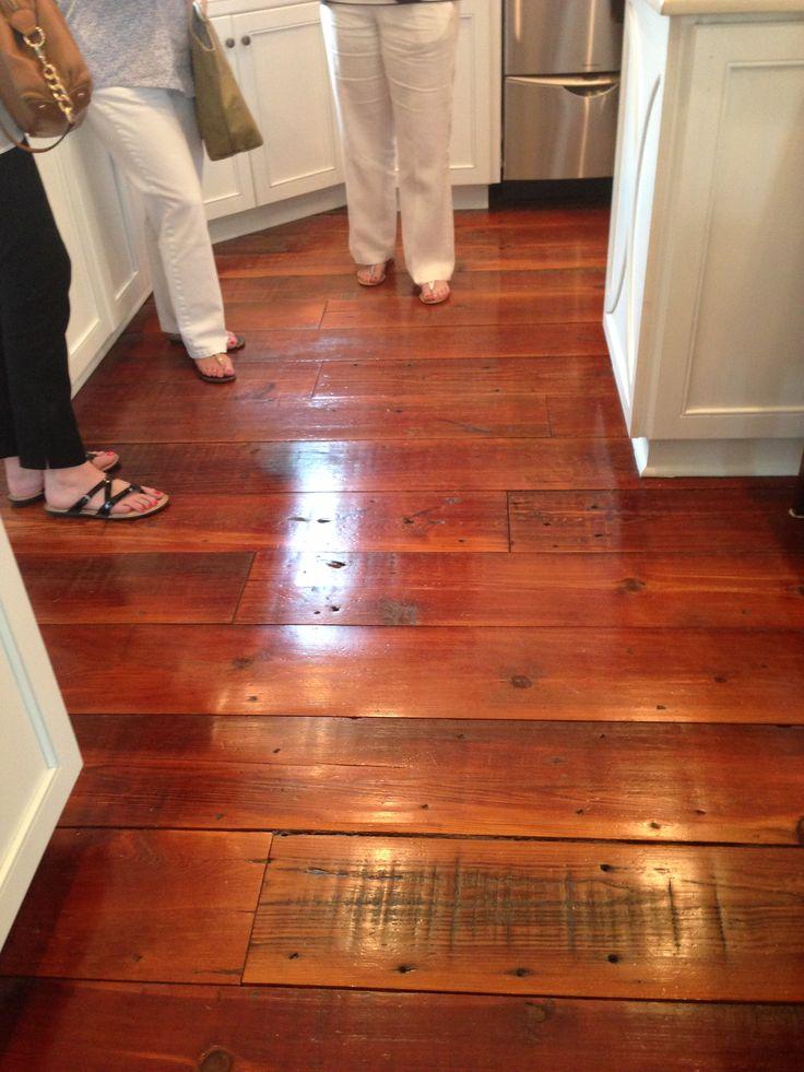 antique heart pine floors  home interiors  Pinterest