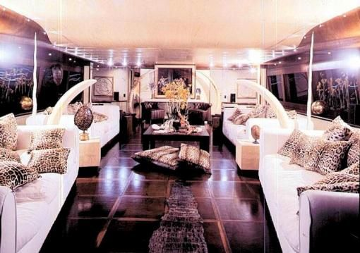 The Interior Of Roberto Cavallis Purple Yacht Please