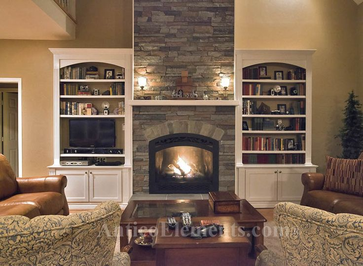 Stone Fireplace Pictures Built Ins Fireplace builtins stone  Basement remodel  Pinterest