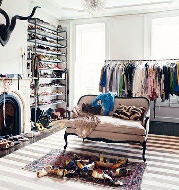 Jenna Lyons dressing room via Domino Magazine