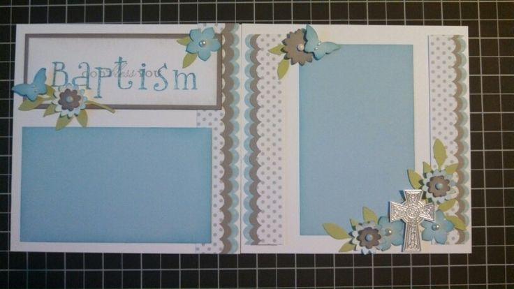 6X6 Baptism Scrapbook Page Crafts Pinterest