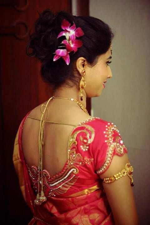 Indian Brides Reception Hairstyle Styled By Swank Studio