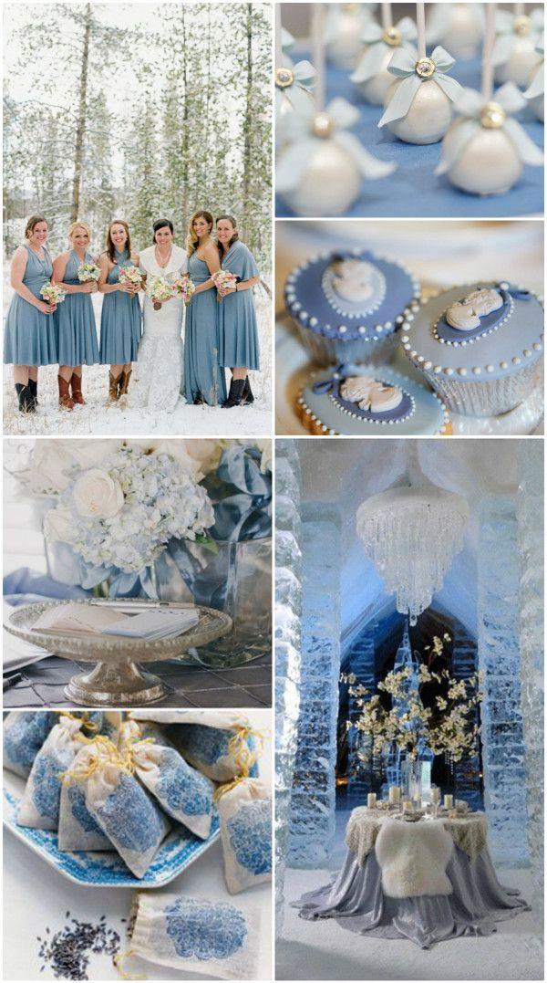 Ideen fr 2014 Winter Hochzeit in der Farbe Grau Silber