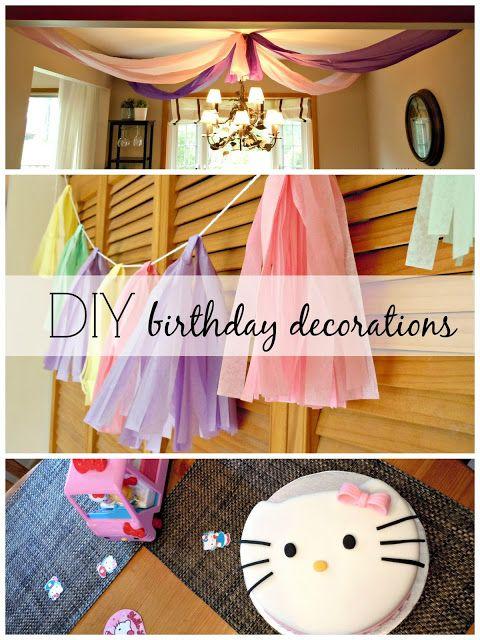 Birthday Party Diy Decorations Pinterest Tablecloths