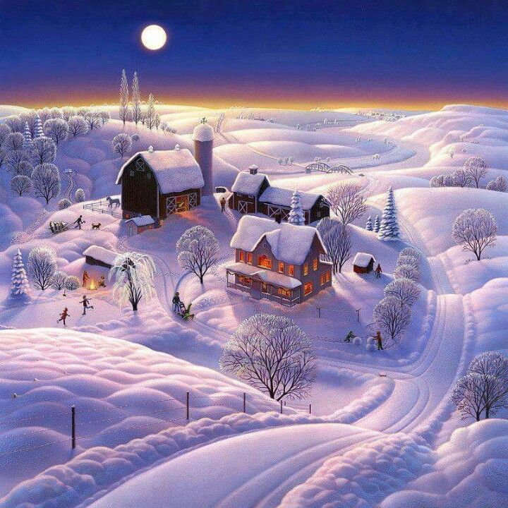 Snow Fields And Night On Pinterest