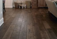 Smoked Black Oak Wide Plank Hardwood Floors   Hardwood ...