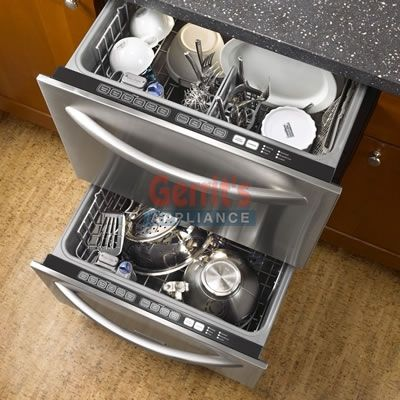 kitchen aid pans round tables undercounter dishwasher drawer style | kitchenaid double ...