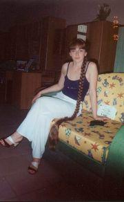 russian girl with beautiful long