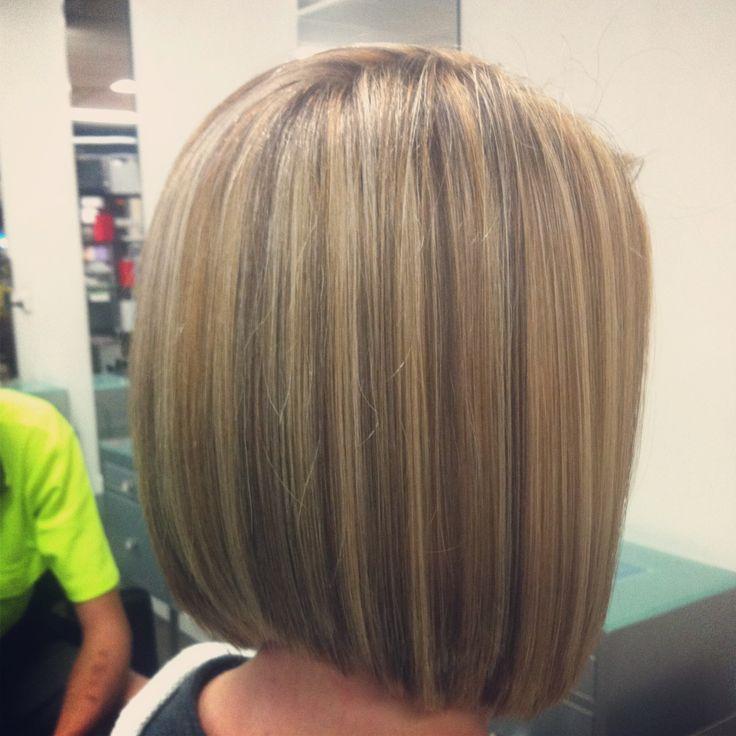 Blonde Restyle Concave Bob Salon Vogue Hair Pinterest