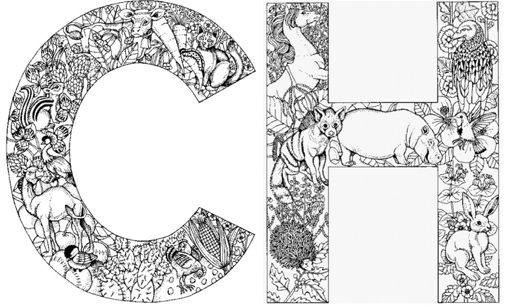 Free letter coloring sheets: read