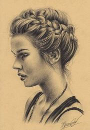 hair sketch. #blackandwhite #updo